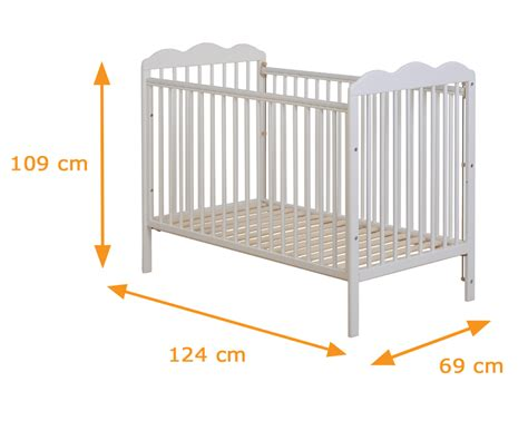 Toddler Bed Measurements by Funique Solid Pine Standard Cot Bed With Optional 60 X 120
