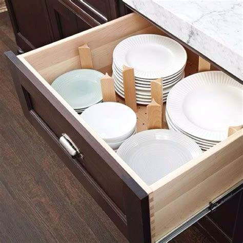 kitchen drawer plate organizers uk organized plate drawers for the home