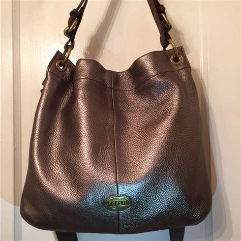 Tas Fossil Satchel 578 Ysg 42 fossil handbags fossil explorer pewter leather hobo cross bag from ro s closet on