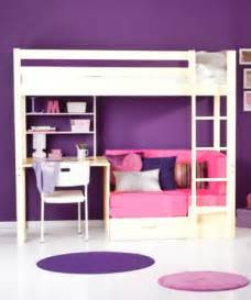 bunk beds for teens teen girls loft bed with desk trendy 29 natural pine