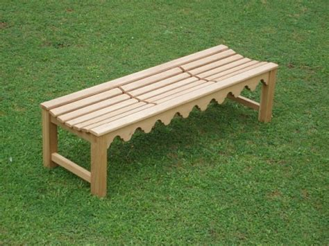 bespoke garden benches bespoke backless bench