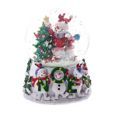 musical snowman snow globe gisela graham jolly snowman noel musical snow globe gisela graham from
