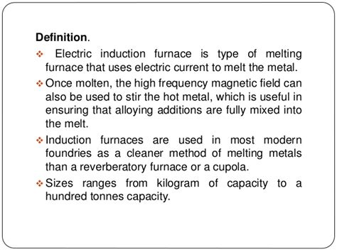 define magnetization by induction induction furnace