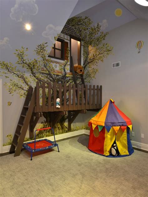kids bedroom fort indoor treehouse ideas pictures remodel and decor