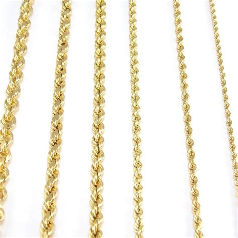 jewelry gold chain real solid 14k yellow gold rope chain necklace you