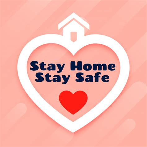 stay home  stay safe poster design  vector