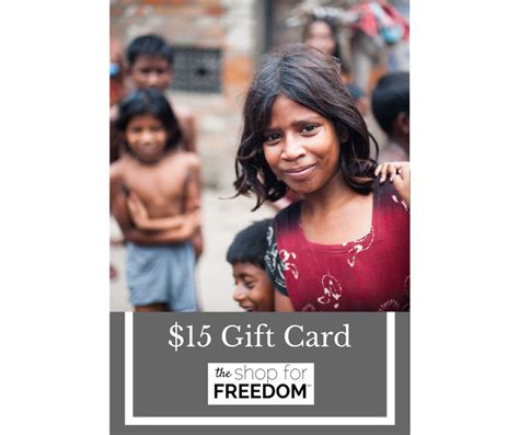 15 Gift Card - 15 gift card the shop for freedom