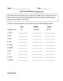 verb tense worksheets for 6th grade simple past tense