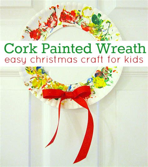 christmas crafts for 12 yr olds cork painted wreath
