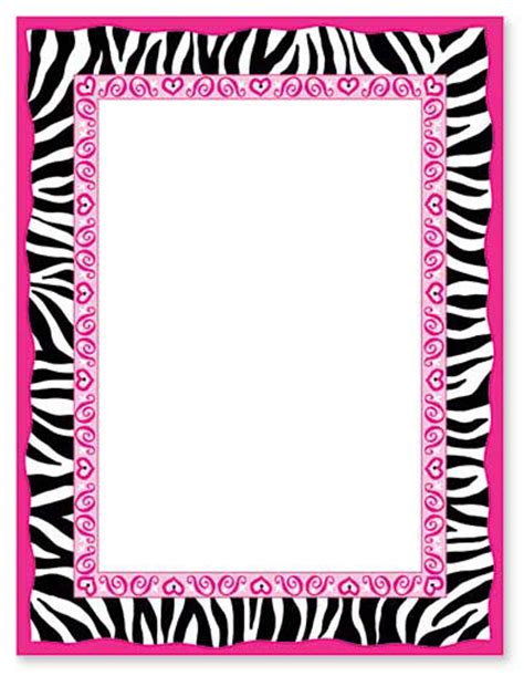 zebra print border template printables joy studio design