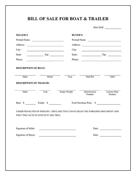 free trailer templates printable sle release and waiver of liability agreement