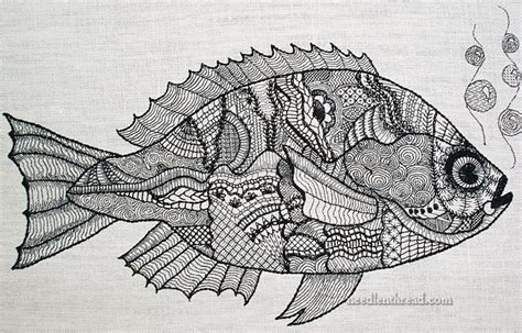 pattern drawing fish 10 best images of zentangle animal patterns printable