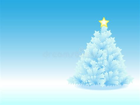 plan b icy icy christmas tree in blue gradient background royalty