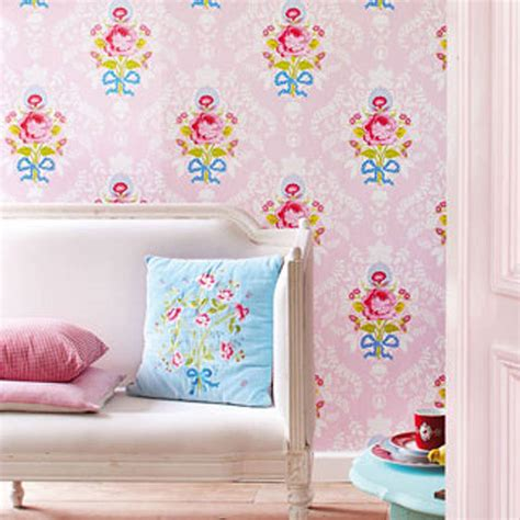 Wallpaper 10m Bunga Shabby all floral wallpaper by fifty one percent notonthehighstreet
