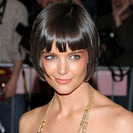 how to cut a katie holmes bob katie holmes bob hairstyle