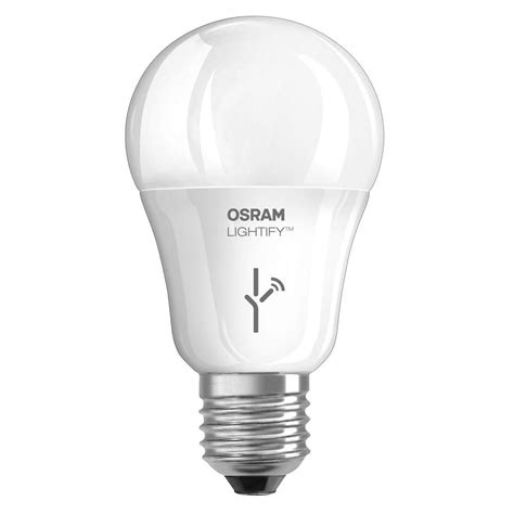 Multi Color Led Light Bulb Osram Sylvania Lightify 60w Equivalent Multi Color And Tunable White A19 Dimmable Smart Led