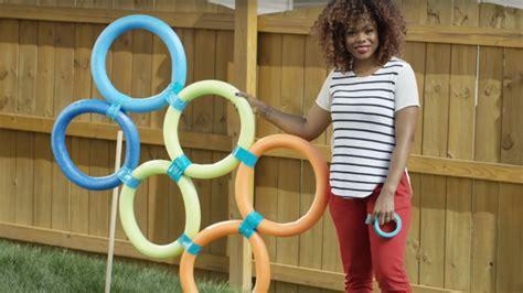 create  easy diy dollar store backyard obstacle