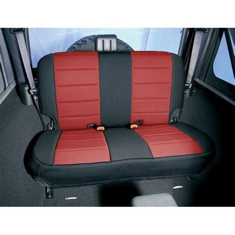2003 Jeep Wrangler Seat Covers 2003 2006 Jeep Tj Wrangler Black Neoprene Rear Seat