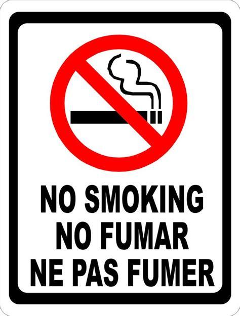 no smoking sign bunnings no smoking no fumar ne pas fumer sign bilingual multi