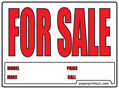 car for sale sign template free car for sale sign to print