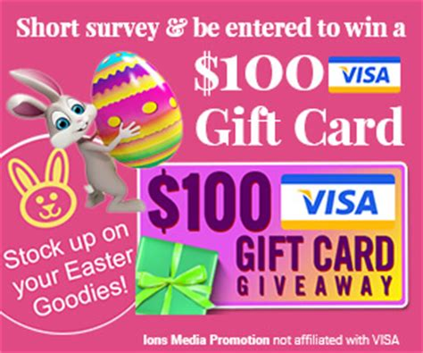 Visa Gift Card Expired - 100 visa gift card for easter expired freestuff com