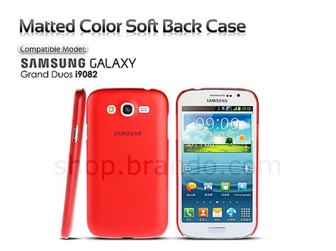 Samsung Grand Duos I9082 Softcase Chrome matted color samsung galaxy grand duos i9082 soft back