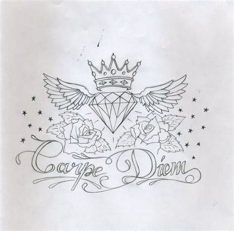 carpe diem tattoo design by bunnysuit93 on deviantart