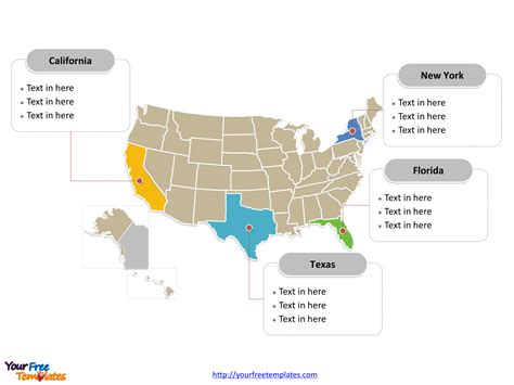 Free Usa Powerpoint Map Free Powerpoint Templates Powerpoint Us Map Template Free
