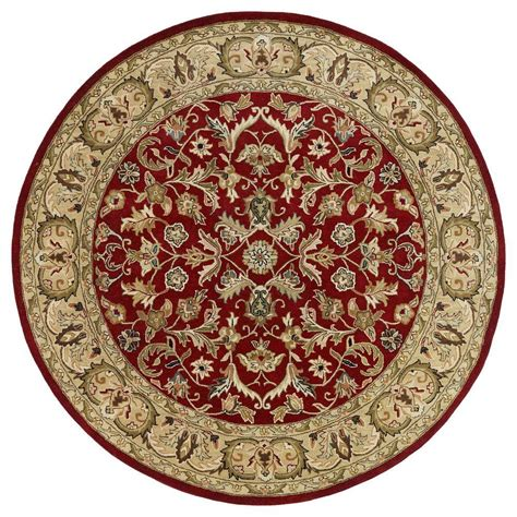 9 Foot Rugs Kaleen Mystic William Red 9 Ft X 9 Ft Round Area Rug