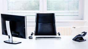 At T Corporate Help Desk by Empty Modern Office Desk Stock Photo Image 47742179