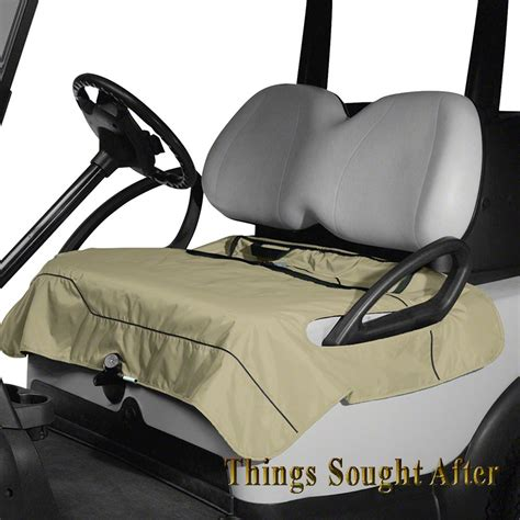 golf cart seat cover blanket khaki seat blanket for golf car quilted fleece cart bench
