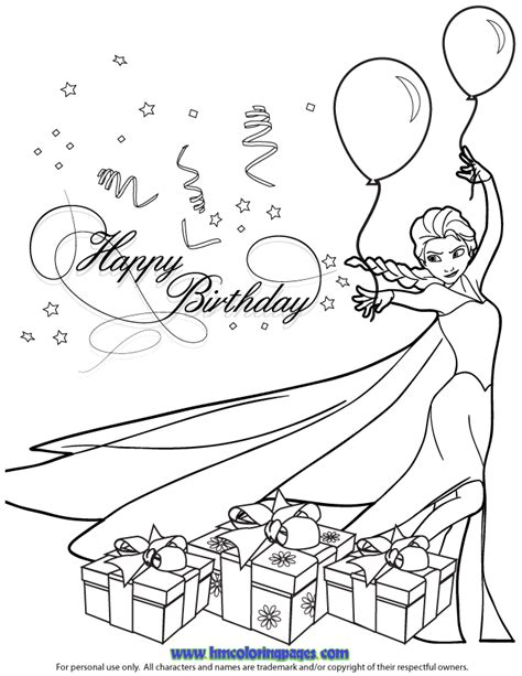 frozen coloring pages happy birthday happy birthday frozen coloring pages coloring pages