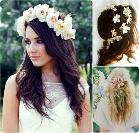 Wedding Hairstyles For Medium Length Hair With Flowers by 6 Ideas For Beautiful And Wedding Hairstyles With