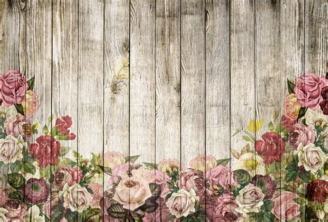 wallpaper for walls with roses free illustration wooden wall roses background free