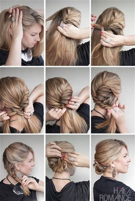 tutorial rambut graduation how to make romantic french fishtail braid chignon fab