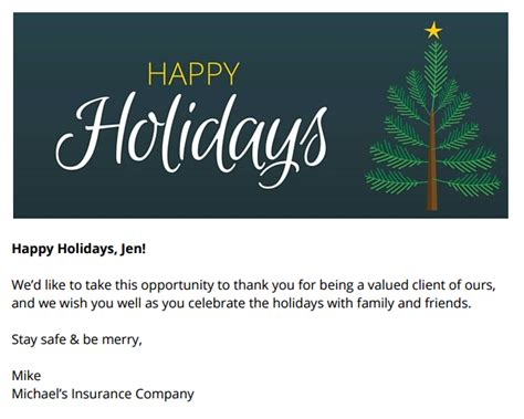 free resource holiday email templates to send to your