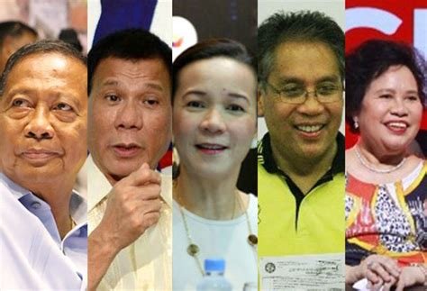 presidential election candidates list comelec releases initial list of presidential vp