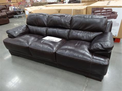 simon li leather sofa costco simon li hunter leather sofa