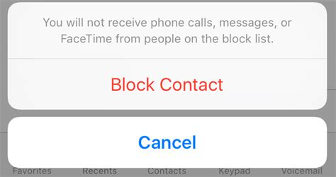 block   contacting   ios