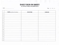 Construction Sign In Sheet Template by Contractor S Daily Sign In Sheet 7 99 Now