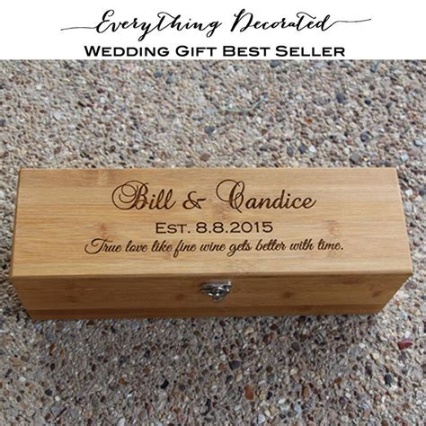 Wedding Gift Wine Box by Wedding Wine Box Personalized Wooden Wine Box