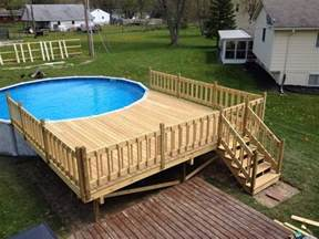 pool deck decks com how do i build an above ground pool deck