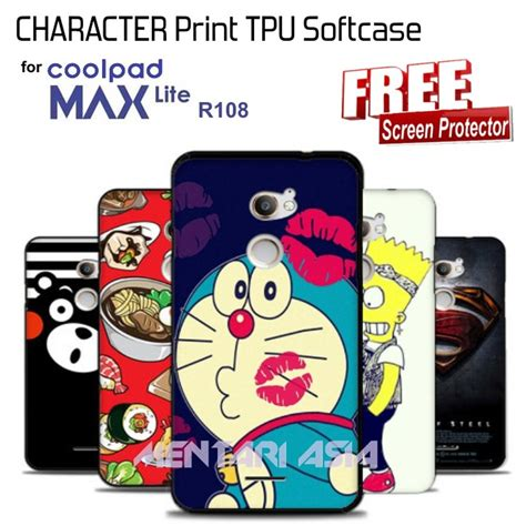 Softcase Glossy Coolpad Max Lite by Jual Softcase For Coolpad Max Lite R108 Character Print