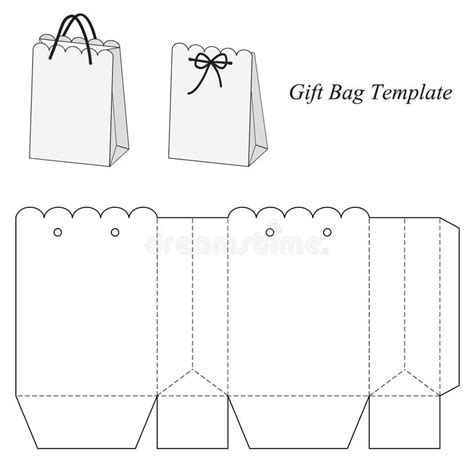 Interesting Gift Bag Template Stock Vector Illustration Of Holiday Container 48154685 Make Your Own Gift Bags Template