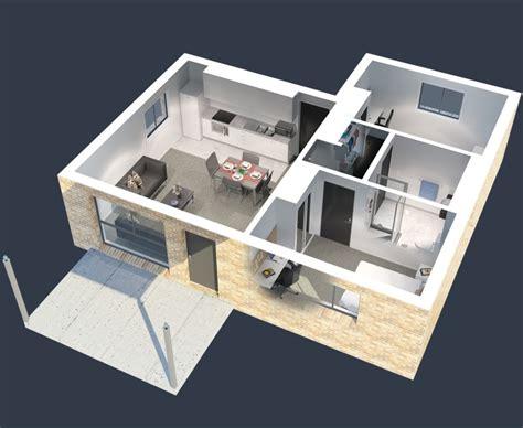 reddit 3d floor plans 50 3d floor plans lay out designs for 2 bedroom house or apartment simplicity and abstraction