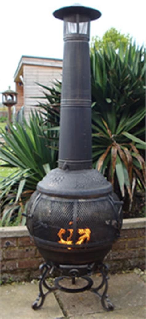 Chimineas Uk The Alfresco Cast Iron Bbq Chimnea Largest Range Of Cast