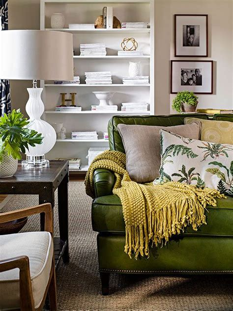 green sofa living room ideas best 25 green leather sofa ideas on green
