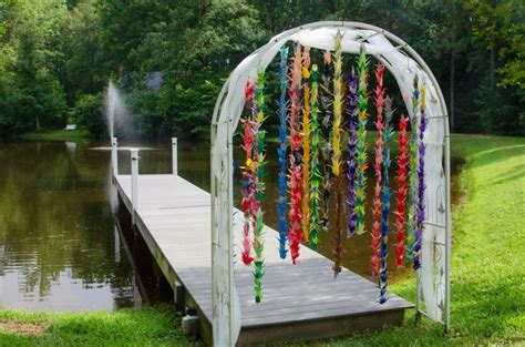Japanese Wedding Arch by Paper Crane Wedding Arch Not Quite 1000 Origami Cranes
