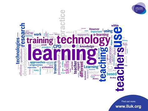 Lifelong Learning In Later technology in teaching and learning in the lifelong