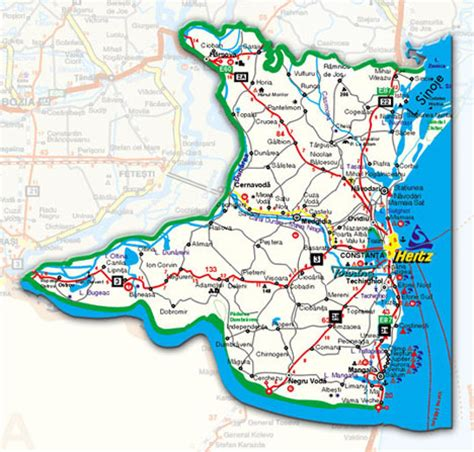 constanta map dobrogea tourism travel accommodation vacations